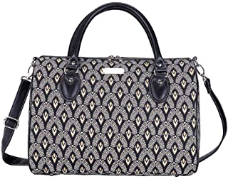 Signare Tapestry Duffle Bag Overnight Bags Weekend Bag for Women with Luxor Art Deco Style