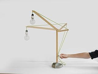 Costruire Lampada da Tavolo - Construct Desk Lamp - Olandese - Design - a mano - Living - Elettrodomestici - Legno - Modul...