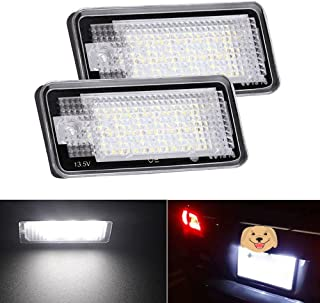JX TK 1 Pair LED License Number Plate Light Lamp for Audi A3 S3 8P A4 S4 RS4 B6 B7 A5 RS5 A6 S6 RS6 A8 Q7