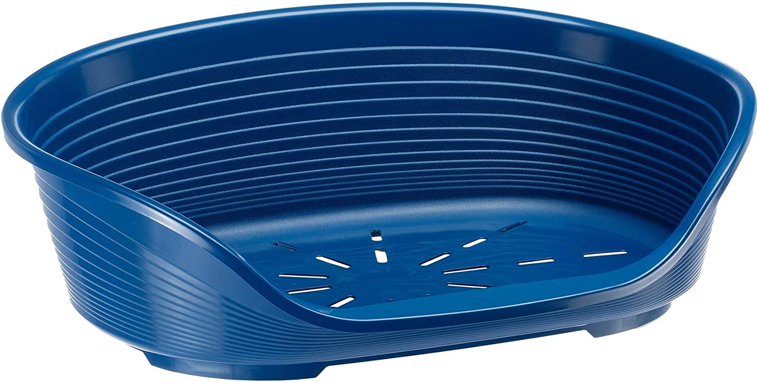 Ferplast Siesta Deluxe 12 Cat and Dog Bed, 111 x 80.5 x H 33.5 cm, bluee