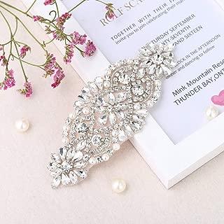 Rhinestone Applique for DIY Bridal Dress, Wedding- Accessories (Champagne)