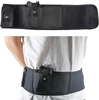 Ultimate Belly Band Holster for Concealed Carry Gun Holster for Women Men Fits Gun Smith and Wesson Bodyguard, Glock 19, 17, 42, 43, P238, Ruger LCP, and Similar Sized Guns for Men and Women Black