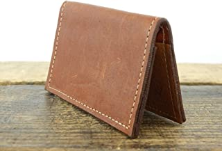 Minimalist Wallet in Brown Leather with RFID Blocking