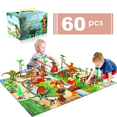 baccow 60pcs Kids Dinosaur Toys for Age 3 4 5 6...