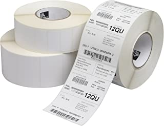 """Zebra Technologies 800274-305 Z-Select 4000T, Thermal Transfer Label, 4"""" x 3"""", 1"""" Core, 5"""" OD, 930/Roll (Pack of 12)"""
