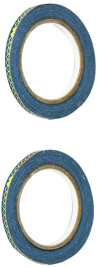 Little B 100878 Decorative Foil Paper Tape, Gold Foil Heart Links