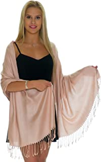 Pashmina Shawls and Wraps - Large Scarfs for Women - Party Bridal Long Fashion Shawl Wrap with Fringe by Petal Rose
