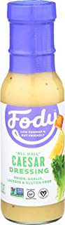 Fody Foods Vegan Caesar Salad Dressing Pack | Low FODMAP Certified | Gut Friendly No Onion No Garlic | IBS Friendly Kitchen Staple | Gluten Free Lactose Free Non GMO | 4 Bottles, 8 Ounce