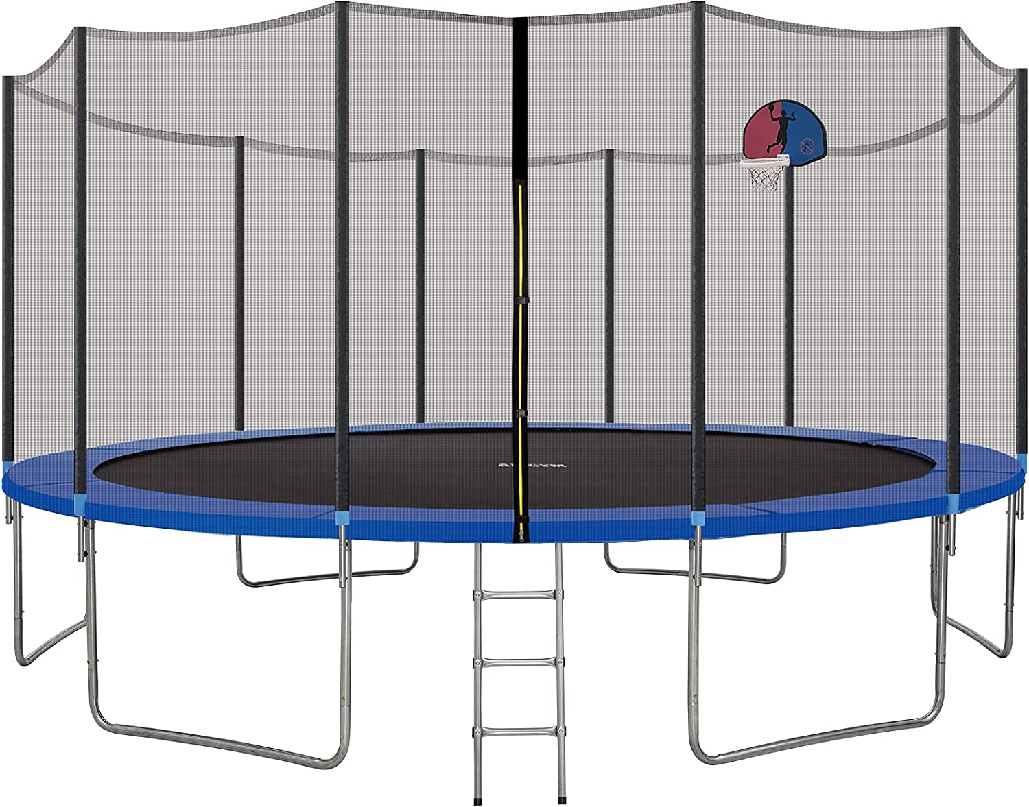 AMGYM 16 Max 75% OFF FT Trampoline with Hoo Over item handling Safety Enclosure Net Basketball