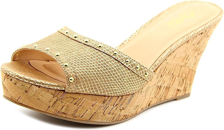 Thalia Sodi Womens estella Open Toe Wedge Pumps, Neutral, Size 10.0