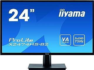 マウスコンピューター iiyama モニター ディスプレイ X2474HS-B2(23.6型/ホワイトLEDバックライト/ブルーライトカット機能/DP,HDMI,D-Sub)