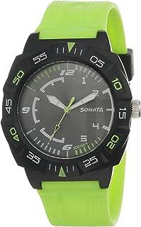 Sonata Grey Dial Men's Watch -NK77008PP03