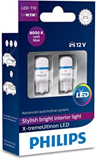Philips 12799I80X2 X-Tremeultinon LED Interior Car Light W5W T10 8000K 12V, Cool Blue, Set of 2