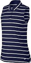 Nike Women's Dri-Fit Striped Sleeveless Polo