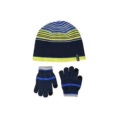 Columbia Kids Hat Glove Set (Youth) (Collegiate Navy) Beanies
