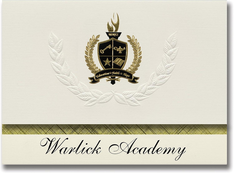 Signature Ankündigungen WARLICK WARLICK WARLICK Academy (Gastonia, NC) Graduation Ankündigungen, Presidential Stil, Elite Paket 25 Stück mit Gold & Schwarz Metallic Folie Dichtung B078VCHSVH   | Öffnen Sie das Interesse und die Innovation Ihres Kindes, abe bc7f74