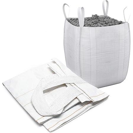 HaGa/® 65 x 135 cm sacco per cereali sacco in tessuto colore bianco per carichi pesanti