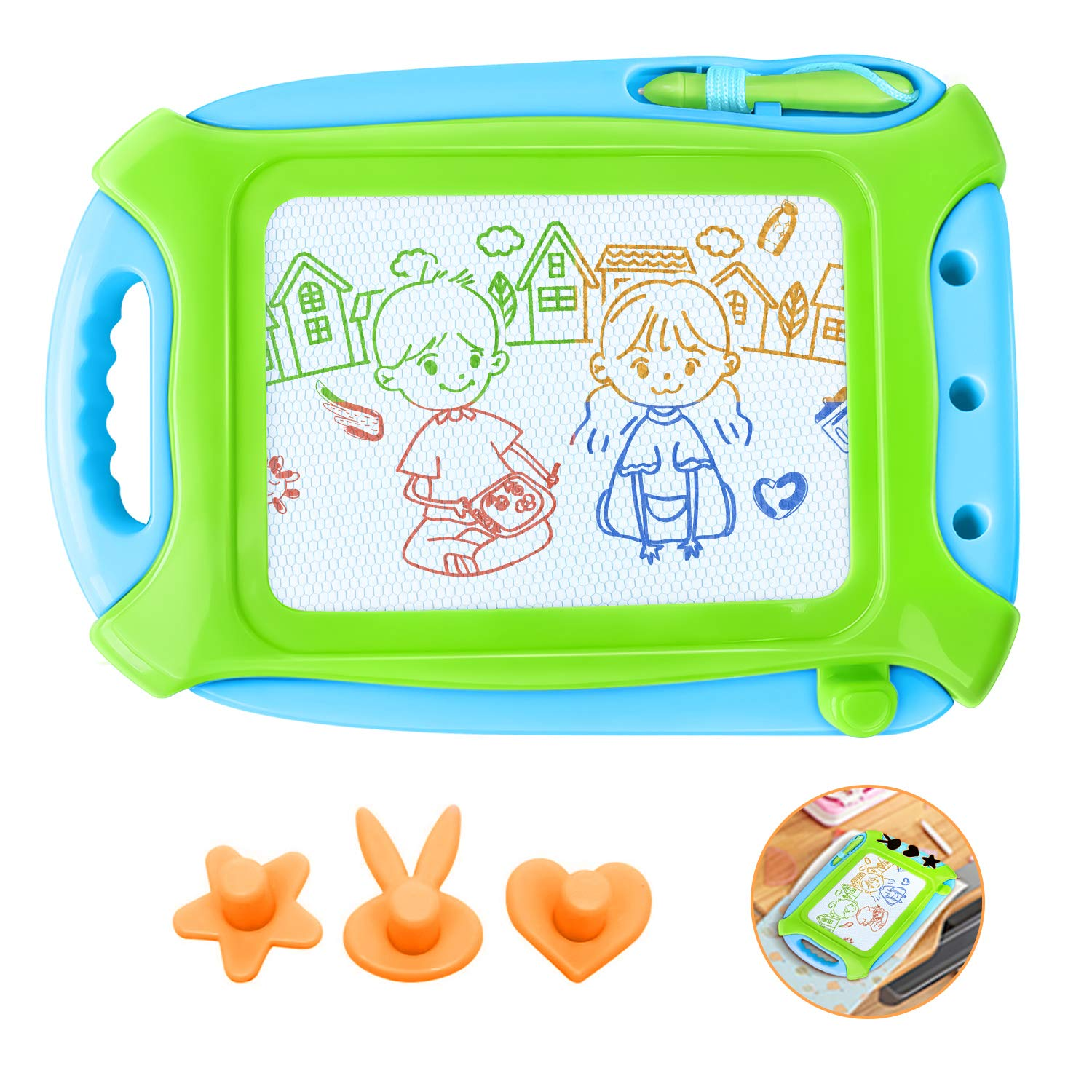 Haimst Magnetic Drawing Board For Toddlers Doodle Writing Board Painting Erasable Sketching Pad For Kids Travel Games Educational Toys Travel Size Green Buy Online In Antigua And Barbuda At Antigua Desertcart Com Productid