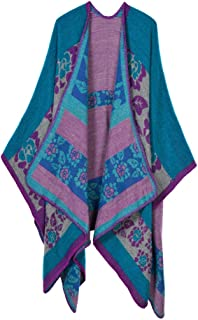 Women's Extra Large Spring and Autumn Long Stole Soft Warm Scarf Shawl Purple
