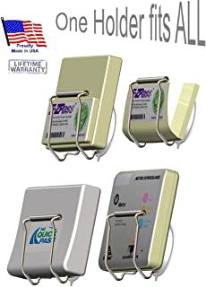 EZ Pass-Port, an Indestructible holder for EZ Pass, I Pass, I Zoom, FasTrak and more by JL Safety. Slip Fit, Will Not Break, Melt, Rotate, Discolor or Rattle. The Only Metal Holder Available Designed Not to Interfere with Transponder Antenna Reception. Very Easy to Attach and Remove, No Messy Adhesive. Get Your EZ Pass-Port Today. Holder only. Fits box shown in pictures. Patent Pending & Lifetime Warranty. Made in USA.