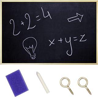 Creative Home 80 x 60 cm Krijt-bord Schoolbord Kennisgeving Dik Houten Frame + Krijt en Spons   Gemaakt in de EU   Perfect...