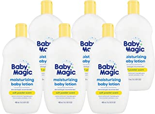 Baby Magic Moisturizing Baby Lotion, Soft Powder Scent, 16.5 Ounce (Pack of 6)