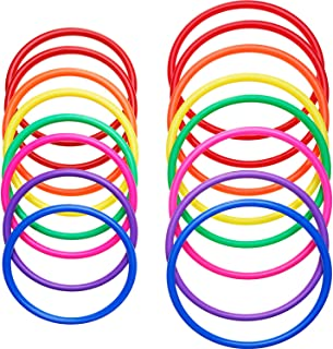 Shappy Plastic Multicolor Toss Rings for Speed and Agility Practice Games, Carnival, Garden, Backyard, Outdoor Games, Toss Ring Game