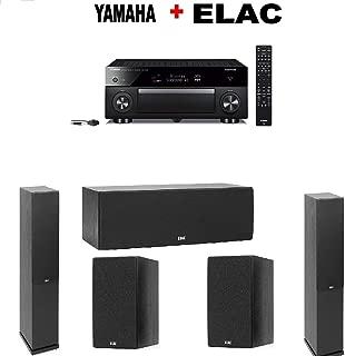 Yamaha AVENTAGE RX-A1080 7.2-ch AV Receiver Compatible with Alexa. + Pair of Elac F5.2 Floorstanding Speaker + ELAC Debut 2.0 C5.2 Center + ELAC B5.2 Bookshelf (Pair) Bundle