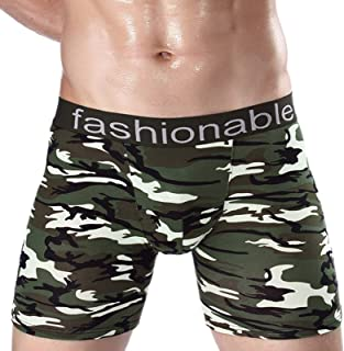 minjiSF Boxer Shorts for Men Retro Shorts Home Underwear Soft Boxer Shorts Classic Comfortable Stretch Camouflage Boxer Sh...