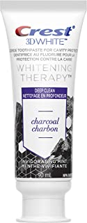 Crest Charcoal Toothpaste, 3D White Whitening Therapy with Fluoride, Invigorating Mint, 90ml