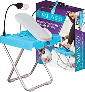 Salon Step The Beauty Footrest for Easy At-Home Pedicures, Treat Your Feet, No More Bending or Stretching with LED Magnifi...