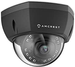Amcrest 5MP Outdoor PoE IP Camera, UltraHD Security Camera, 2.8mm Lens, IP67 Weatherproof Security, Cloud and MicroSD Recording, IP5M-1176EB (Black)