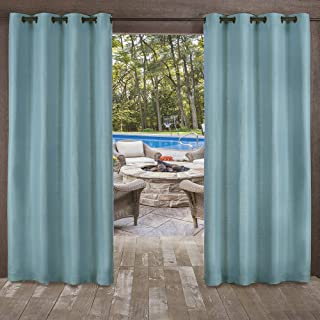 Exclusive Home Curtains Delano Grommet Top Panel Pair, Teal, 54x96, 2 Piece