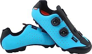 Zapatilla de Ciclismo MTB Eros con Doble Cierre rotativo de Alta precisión. (46 EU, Azul)