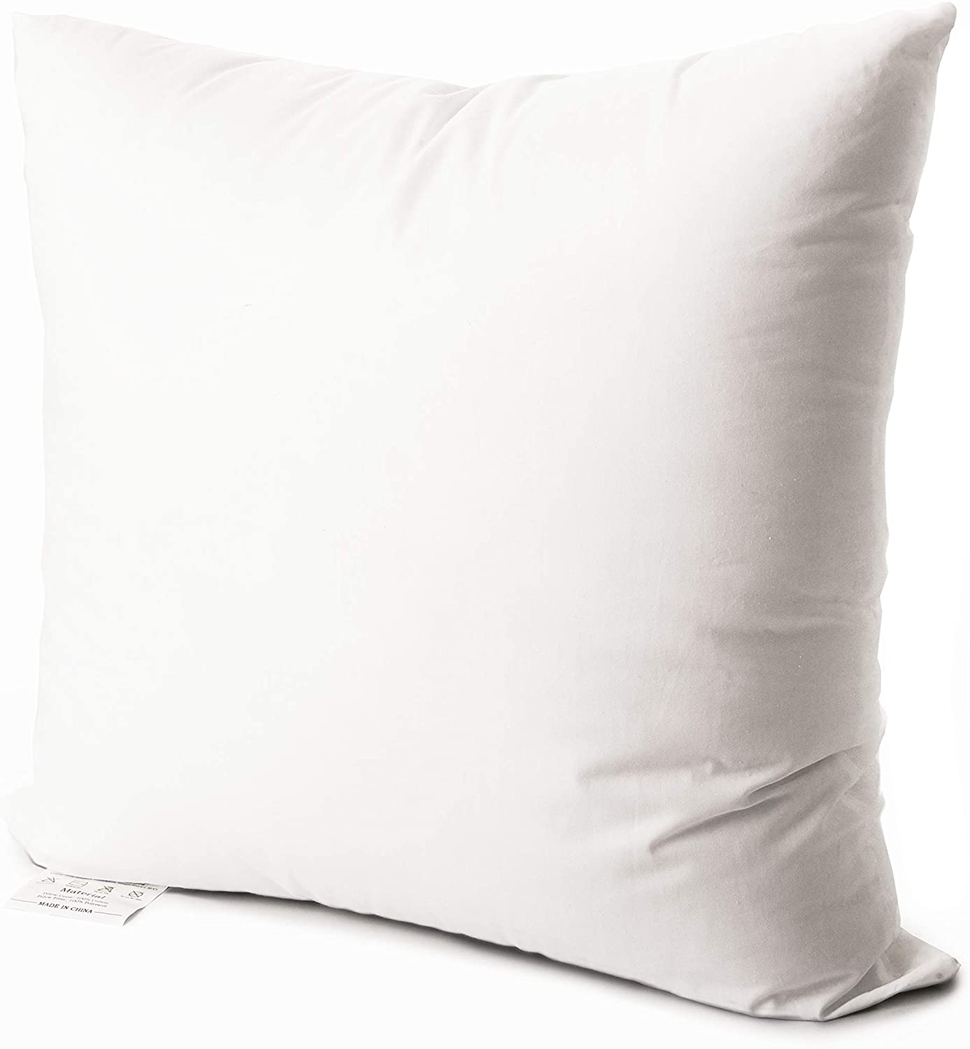 Edow Luxury Throw Pillow Insert, Soft Fluffy Down Alternative Polyester Square Form Decorative Pillow Insert,Sham Stuffer,Cotton Cover for Sofa, Couch,Bed and Car. (White, 26x26)