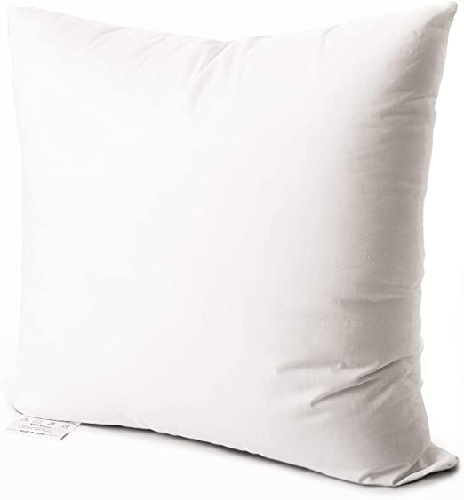 Amazon Com Edow Luxury Throw Pillow Insert Soft Fluffy Down Alternative Polyester Square Form Decorative Pillow Insert Sham Stuffer Cotton Cover For Sofa Couch Bed And Car White 12x12 Home Kitchen
