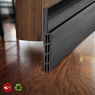 BAINING Door Draft Stopper Sweep, Silicone Door Seal Strip, Under Door Noise Blocker, with 3M VHB Adhesive Backing,2