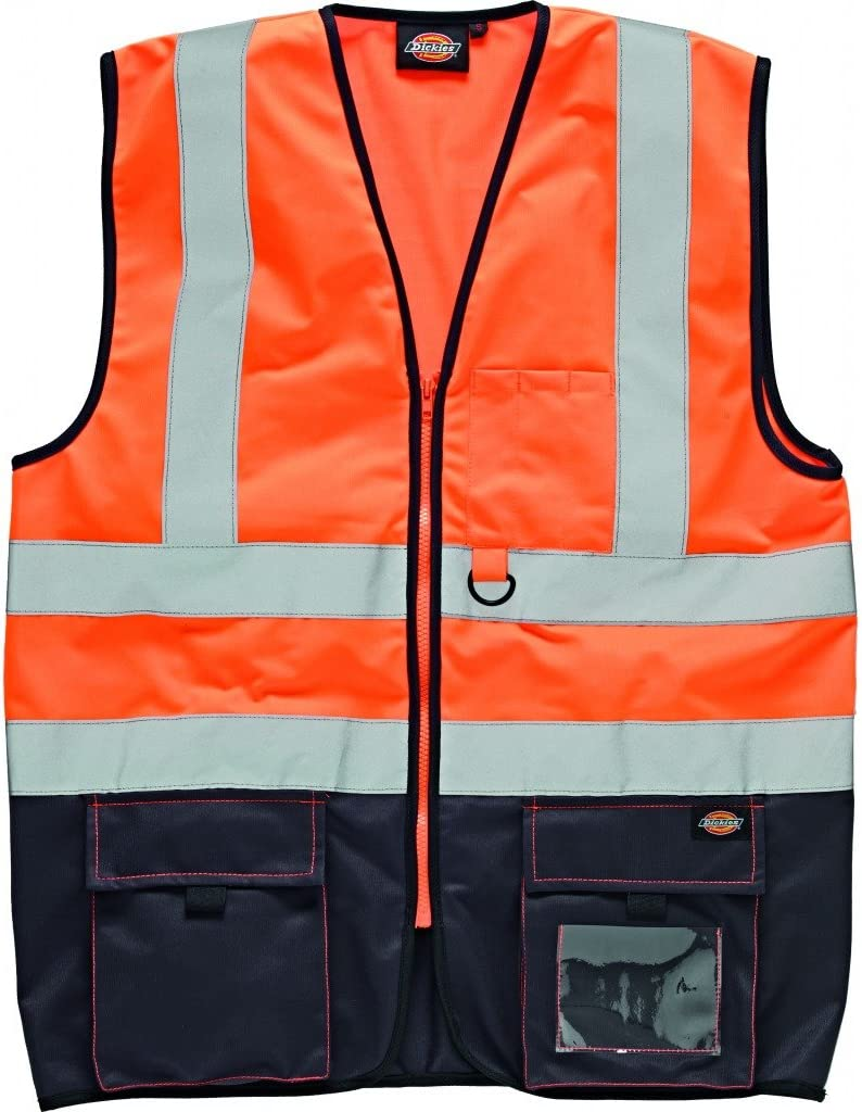 Dickies SA22021 ORN3XL multicolor color naranja y azul marino talla 3XL SA22021 ORN3XL Chaleco de gran visibilidad