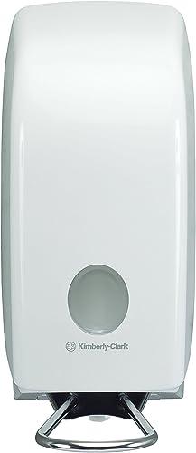 Aquarius 6955 Distributeur de solution de lavage des mains professionnel, Pour cartouches de savon de 1 L, Levier à c...