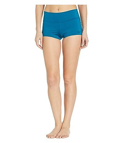 Nike Solid Kick Shorts (Green Abyss) Women