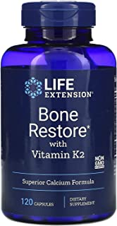 Life Extension Bone Restore with Vitamin K2-120 Capsules