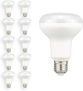 POPP® Bombillas E27 LED Edison R80 12W Equivalente a 80W Incandescente 1050Lm SMD Blanco Cálido (3000K, Pack 10)