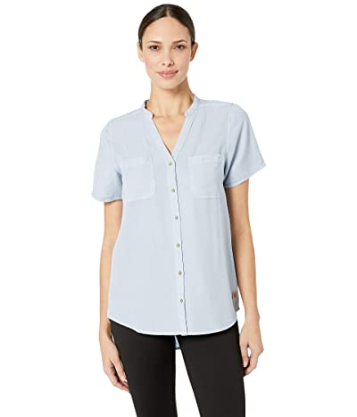 tentree Pecan Short Sleeve Button Up (Skyway) Women
