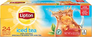 Lipton Family Black Iced Tea Bags Unsweetened 24 ct, pack of 6