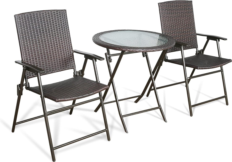 Patio 3 Pieces Discount is also underway All Weather Bistro Rattan Outdoor Set List price Sli Folding