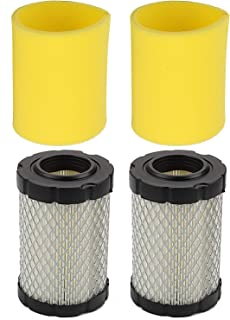 Hilom Pack of 2 796031 Air Filter for Briggs & Stratton 591334 594201 5428 5421 797704 310000 Engine John Deere MIU14395 D100 D105 D110 D130 D125 L105 L107 LA135 LA145 L108X124 E100 Lawn Tractor
