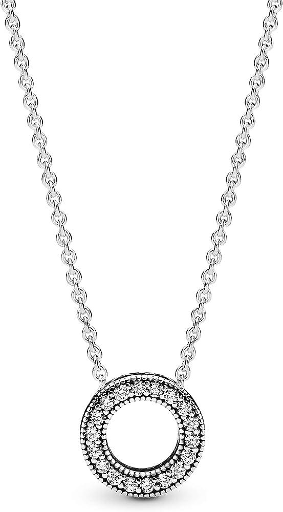 Pandora collana donna  argento con ciondolo 397436CZ-45