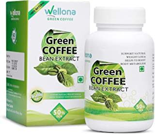The Choice Wellona Green Coffee Bean Extract Capsules for Ultra Weight Loss Supplement - 60 Tablet