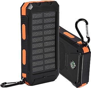 iFCOW 10 000 mAh solcell mobil powerbank för mobiltelefoner surfplattor utomhus snabbladdande fodral gör-det-själv-kit med...