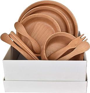 籐芸 子ども用食器セット ベージュ サイズ:20×20×9cm GRANDek(グランデック) SUNSHINE GD09-SSH